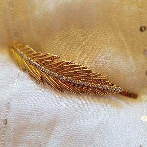 Gold tone hair clip